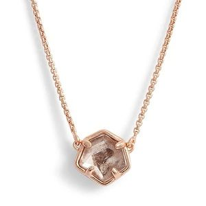 Kendra Scott Rose Gold Sable Jaxon Necklace NWT